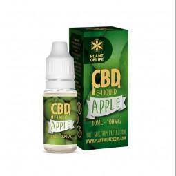 E-liquide CBD 1% arômes fruité Plante of life pomme